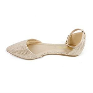 Dream Pairs Gold Pointed Toe Flats 6